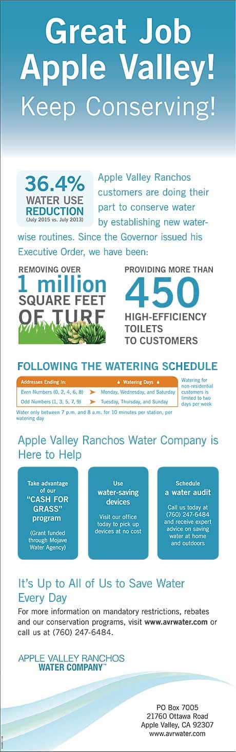 Great job, Apple Valley!